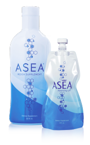 ASEA redox signaling water bottle and pouch