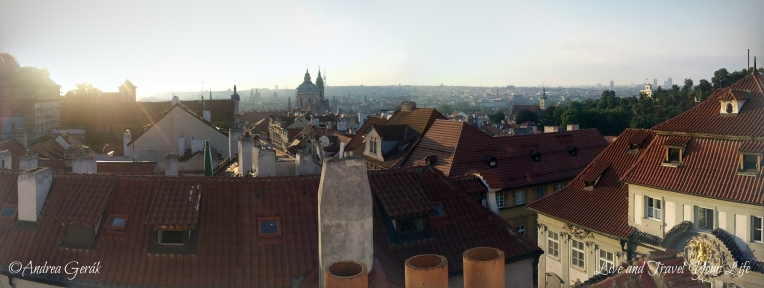 Early summer morning over Prague PANO WM