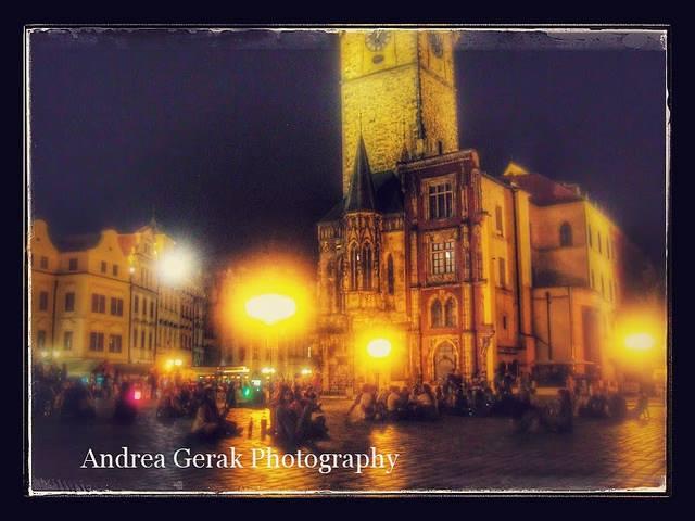 Hot summer night in Prague