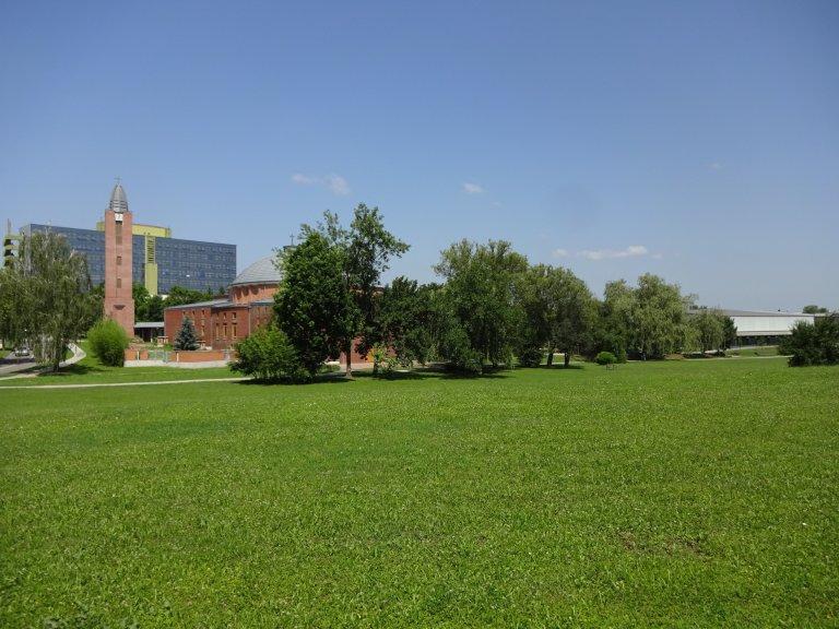 Hospital, Holy Family Catholic church, Don Bosco Sports and Recreational Hall, in the City Park of Kazincbarcika